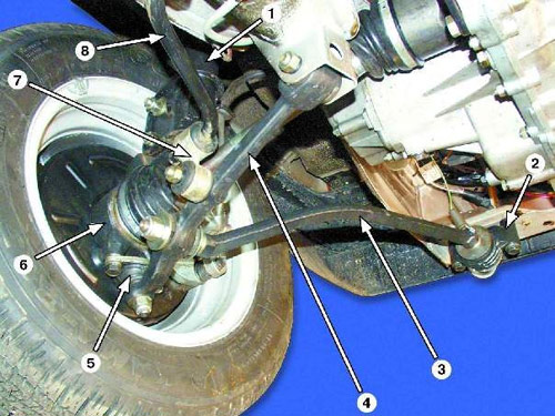 Ваз 2110 передняя подвеска схема
